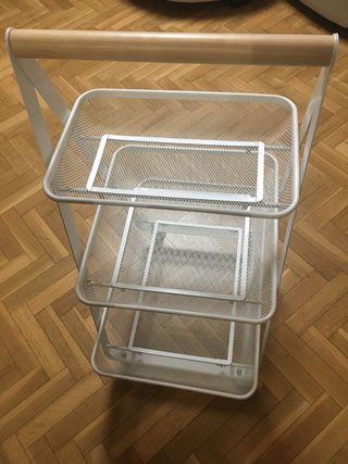 Carrito con ruedas IKEA blanco57x39x86 cm
