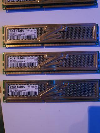 MEMORIA RAM OCZ GOLD MODULOS 2GB PC3 12800