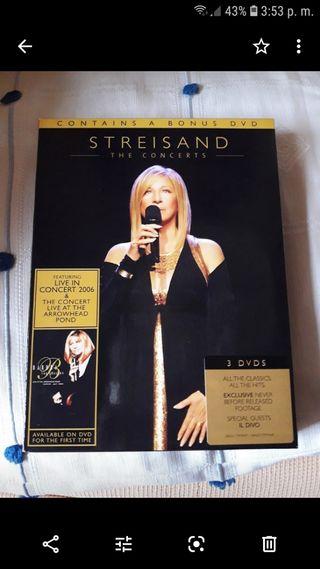concierto de barbra streisand .en dvds