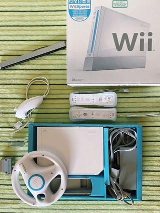 Consola Wii de Nintendo + 9 juegos