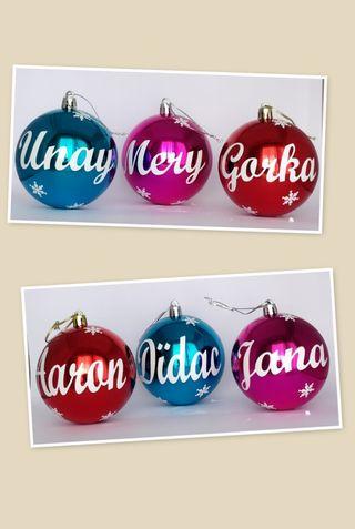 6x Bolas decorativas navidad variadas