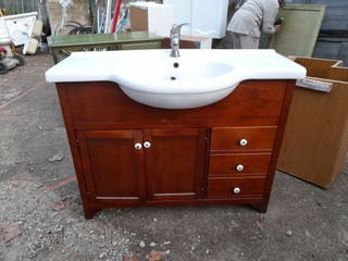 lavabo rústico baño