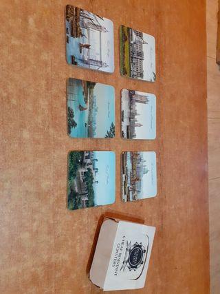 6 posabasos souvenir de Reino Unido.