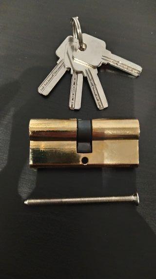 Cerradura bombin 32x32 mm con 4 llaves