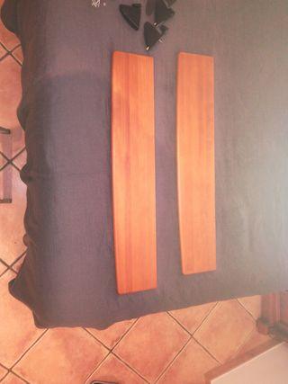 2 estanterias de madera maciza