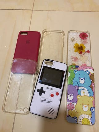 Lote 6 Fundas iPhone 8 original game boy