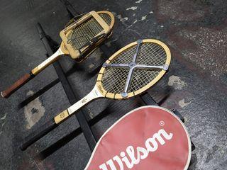 Pareja de raquetas Wilson antiguas