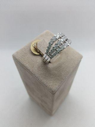 anillo oro blanco 18k y diamantes