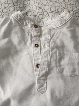 Camisa cuello Mao 3 botones