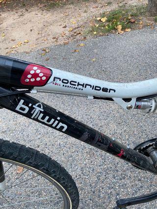 Vendo bici BTT, B-Twin de doble suspensión