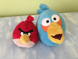 2 Peluches Angry Birds