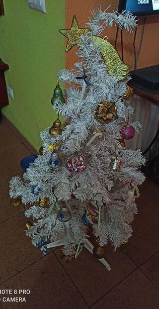 arbol de navidad blanco.