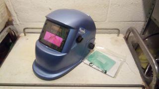 casco soldador pantalla electrónica solar