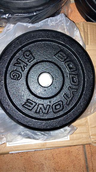4 DISCOS PESAS 5 kg BODYTONE para mancuernas