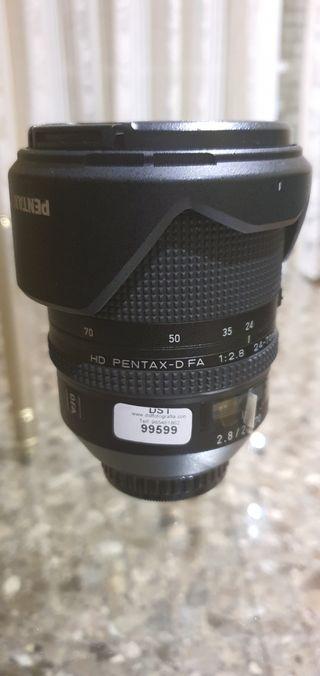 Objetivo Pentax HD 24-70 .2.8mm casi sin uso