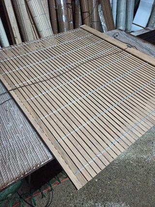 Persiana alicantina pvc color madera
