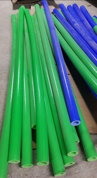 Coquillas protectoras color verde y azul