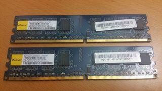 2 módulos de 1 GB DDR2, 3 € unidad