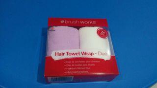 pack 2 toallas para pelo microfibra