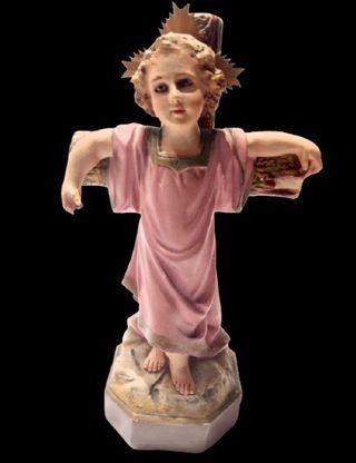 Antiguo Niño Jesús en la cruz - Olot
