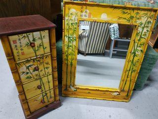 Espejo y mueble cajones