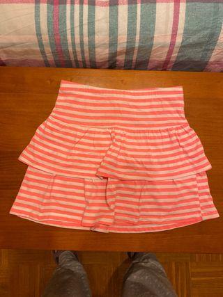 Falda corta de volantes H&M