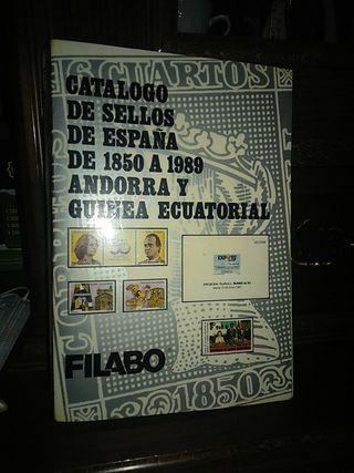 Catalogo De sellos de España de 1850 a 1989.