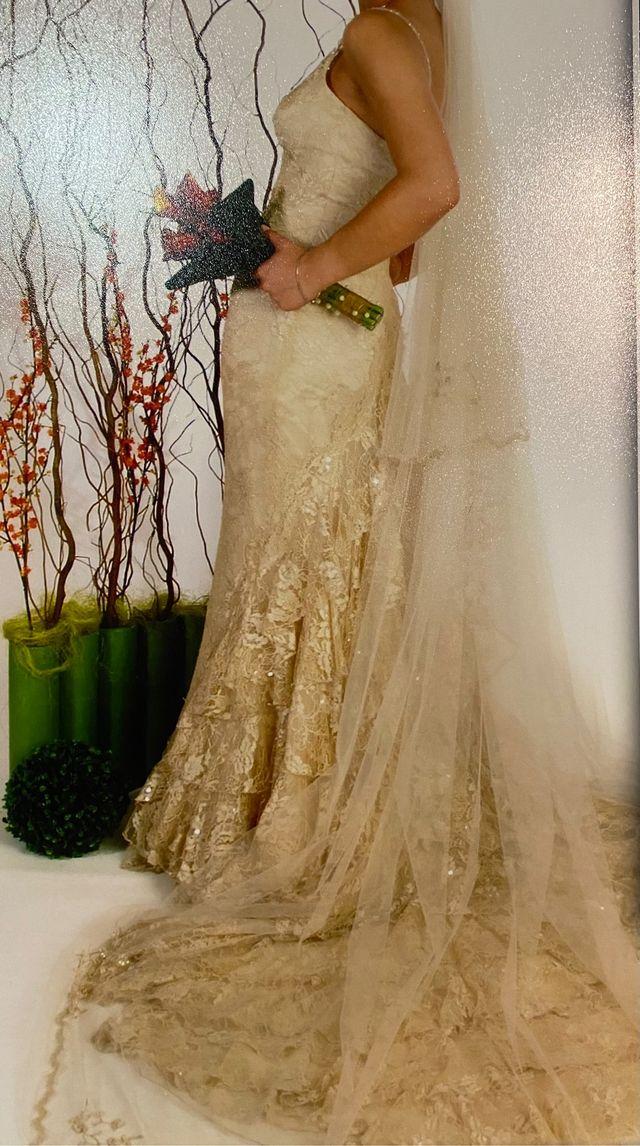 Vestido novia Manuel Mota