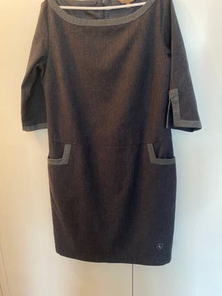 Vestido El Ganso gris talla 44
