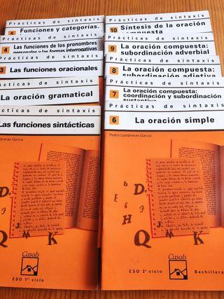 "Cuadernos de ""Prácticas de sintaxis"""