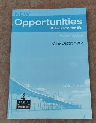 Mini diccionario Inglés- New Opportunities