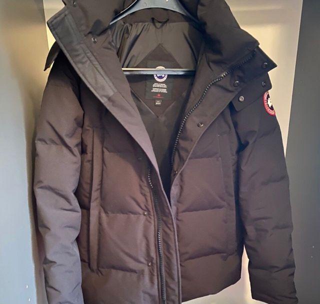 Grey Canada goose coat