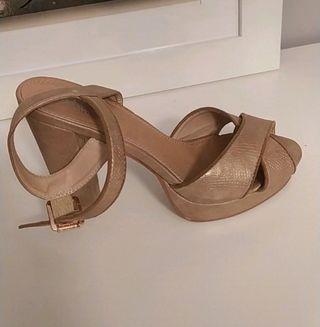 sandalias doradas Marypaz talla 39