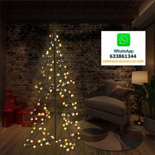 Cono árbol de Navidad de 160 LED interior y exteri