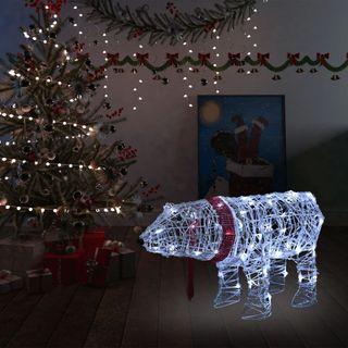 Oso de luces decorativo navideño 45 LED 71x20x38cm
