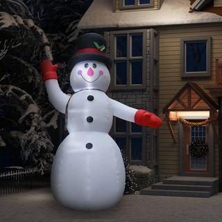 Muñeco de Nieve 300 cm Inflable con LED Navidad