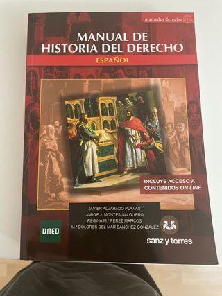 Manual Historia del Derecho 2020/2021