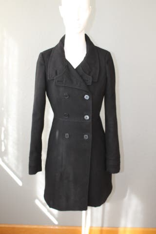 Abrigo negro - Zara Trafaluc - Talla XS