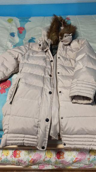 abrigo Zara plumas