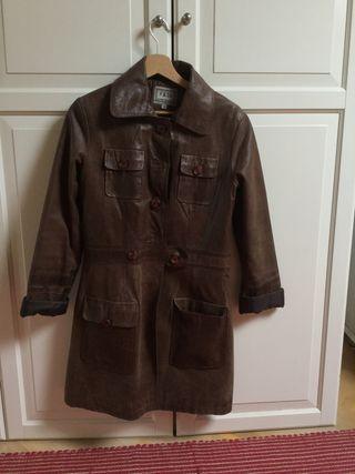 Abrigo cuero vintage
