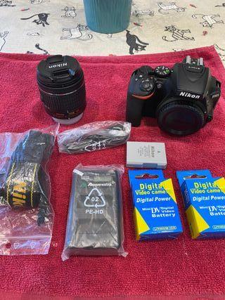 Cámara Nikon D5600 18-55mm + extras