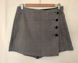 Falda pantalón de cuadro Vichy