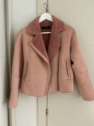 Abrigo rosa Zara talla S