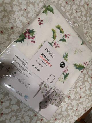 mantel nuevo navideño 100%algodon