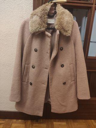 Abrigo rosa de Zara en Talla S