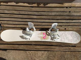 Tabla de snow Atomic con fijaciones y funda