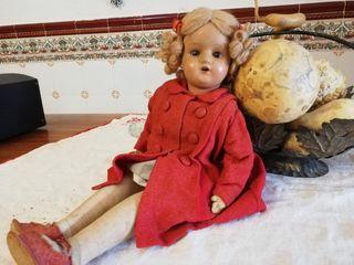 Antigüedades, muñeca porcelana