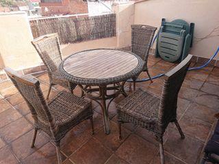 messa terraza + 4 sillas