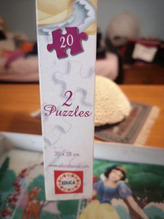 puzzles Disney cenicienta y blancanieves