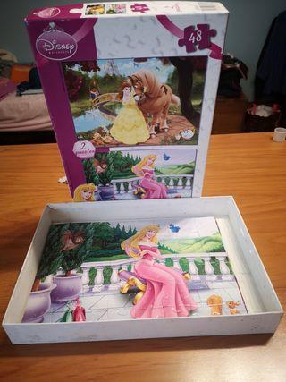 puzzles Disney. Aurora y la bella y la bestia